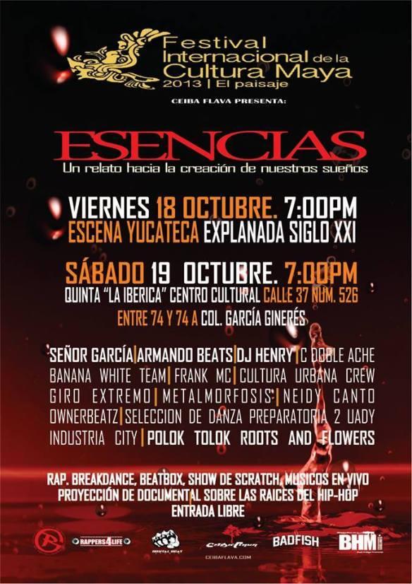 FESTIVAL INTERNACIONAL DE LA CULTURA MAYA CEIBA FLAVA PRESENTA ESENCIAS
