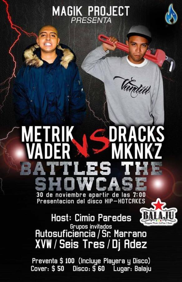 battles de show case  metrick vadder vs dracks mknkz